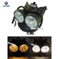 Front Bug Eyed Dual Head Light Lamp Headlight Headlamp Guard Protector Set Clear Lens For 2009