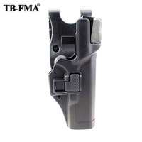 TB FMA Tactical Glock Holster Black Military Level 3 Waist Belt Right Hand Holster hunting for Glock17 19 22 23 31 Free Shipping
