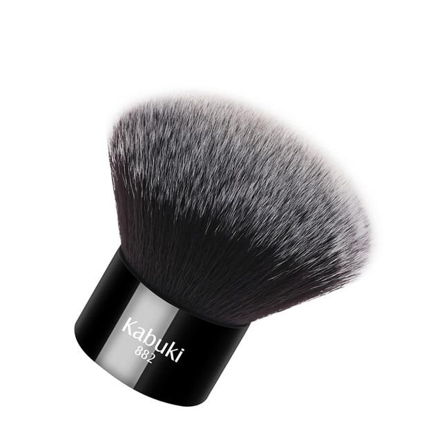 Zoreya Brand Women Fashion Black Kabuki Brush Soft Synthetic Hair Face Makeup Tools Portable To Take And Easy To Use 4
