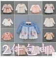 Venta 2 unids/lote New born baby girls vestidos princesa infant parte vestido vestimenta envío gratis