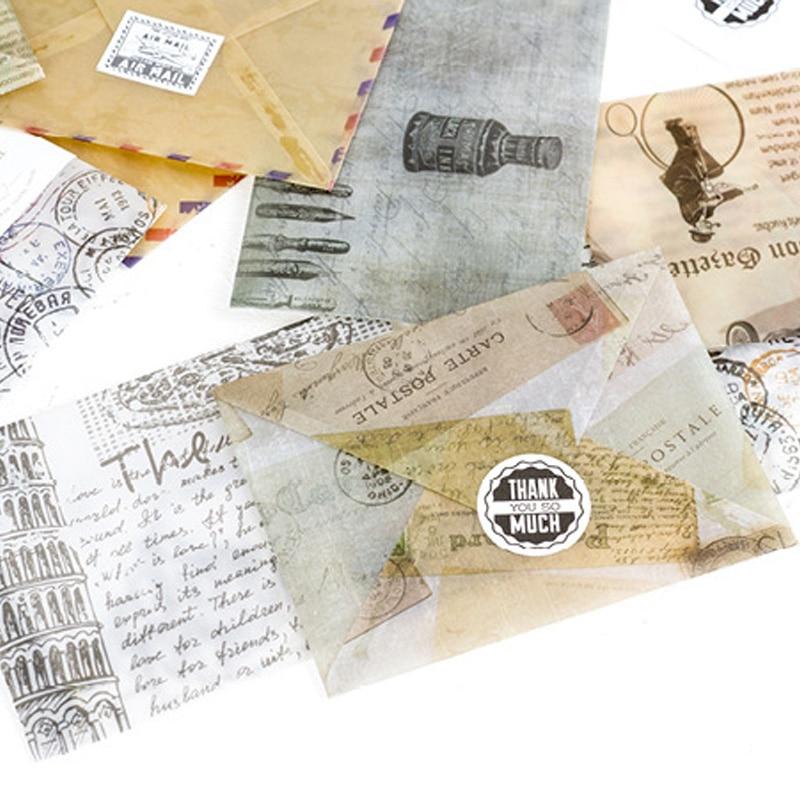 3 шт./лот винтаж карте штемпель конверт