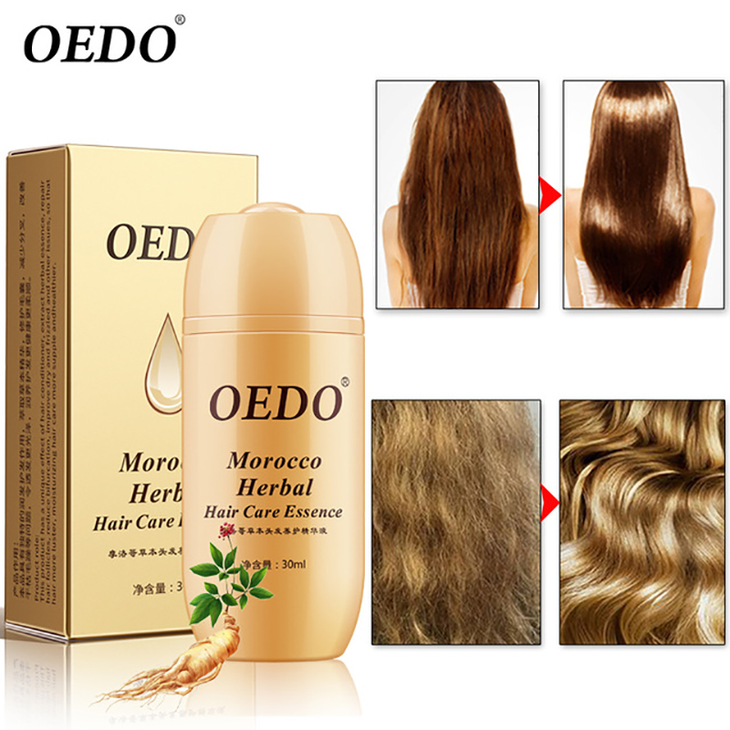 30ML Moroccan Hair Loss Treatment Ginseng Ginger Hair Growth Oil Herbal For Dry Hair Care Types Scalp Herbal Treatment Essence 1