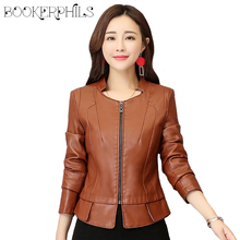 2019 Women Leather Jacket Winter Autumn Washed PU Leather Motorcycle Jacket Plus Size 4XL Slim Female Soft Leather Outerwear цены
