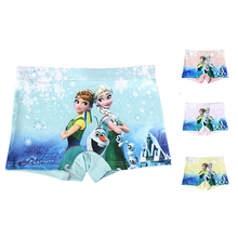 4Pcs lot Cute Panties For Girls Elsa Anna Baby Girls Underwear Kids Short Briefs Children Underpants