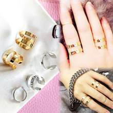 Charming Jewelery Accessories Chic Above The Knuckle Adjustable Opening Ring Sets(China)