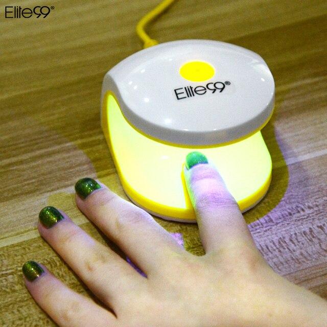 Elite99 2W Timing Nail Dryer Mini LED UV Lamp For Nail Gel Dryer Curing Lamp Dryer Manicure One Finger Light Portable MINI Lamp