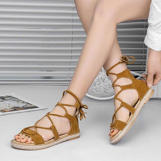 d44642ef2beb 2018 Women Sandals Espadrilles Flat Heels Summer Women Shoes Party Gladiator  Sandals With Zipper Slippers Slides Sandalias Mujer