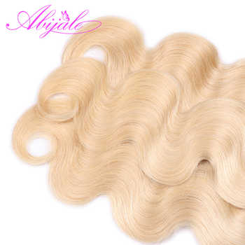 Abijale Blonde Body Weave Bundles With Closure Brazilian Hair Weave Bundles With Closure Human Hair Bundles With Closure Remy