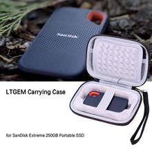 LTGEM EVA czarny do przenoszenia na twardym etui na Sandisk Extreme 250GB przenośny dysk SSD tanie tanio Uniwersalny Torby aparatu Pakiet trójkąt CS444 13 97*9 4*3 81cm 119 6g