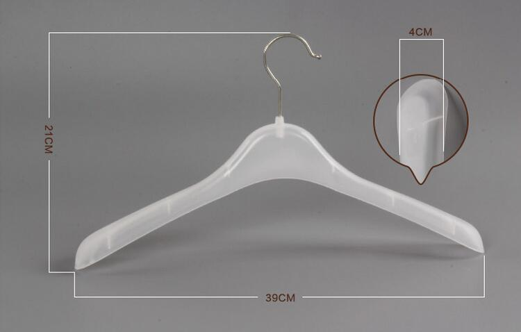 Купить с кэшбэком [Free shipping] Affordable Clear White Plastic Clothes Shirts Coats Pants Hanger  (10 Pieces/ Lot )