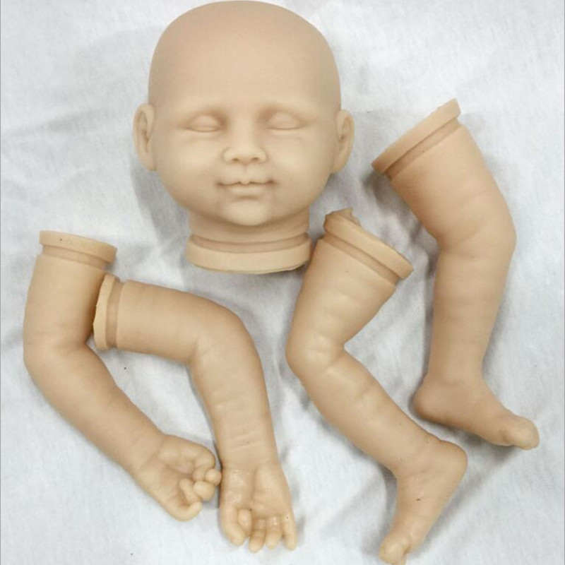 Reborn Doll Kits for 20inches Soft Vinyl Reborn Baby Dolls Accessories for DIY Realistic Toys for DIY Reborn Dolls Kits dk-97 good price reborn baby doll kits for 17 baby doll made by soft vinyl real touch 3 4 limbs unpainted blank doll diy reborn doll