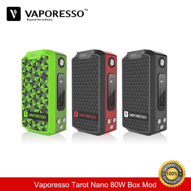 Cigarette électronique Vaporesso Tarot Nano 80 W TC boîte Mod 2500 mah Vape Mod Cigarette électronique vaporisateur Vaper VS Geekvape