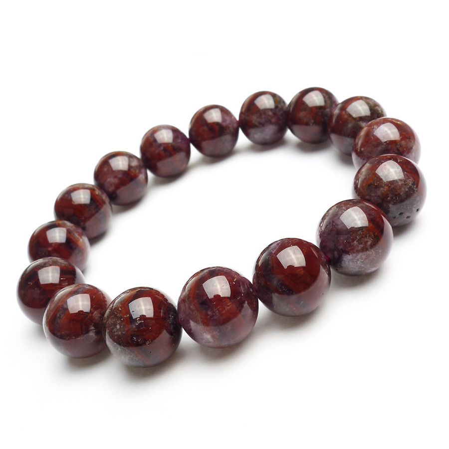 Véritable Auralite naturelle 23 bracelets pour femme hommes puissant extensible cristal perle ronde Bracelet en pierre naturelle 14mm
