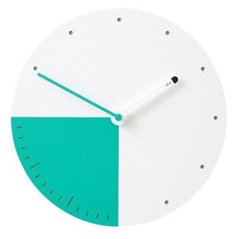 Reloj de pared de diseño moderno, relojes de Metal decorativos murales simples,...