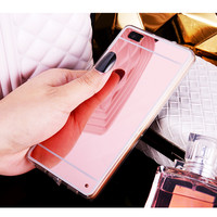 Luxury Mirror TPU Case for Huawei P10 P8 P9 Lite Mate 9 8 GR5 2017 Y6 II Back Cover for Honor 6C 6X 5X 8 Pro 7/Nova/G9 Plus Case