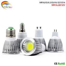Lámpara LED E27 E14 bombilla LED 15W 12W 9W COB led de alta potencia GU10 GU5.3 AC220V MR16 cc 12V foco Lampara(China)