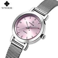 WWOOR Casual Watch Women Watches Fashion Clock Quartz watch Female Ladies Luxury Dress WristWatch Relogio Montre Reloj Mujer