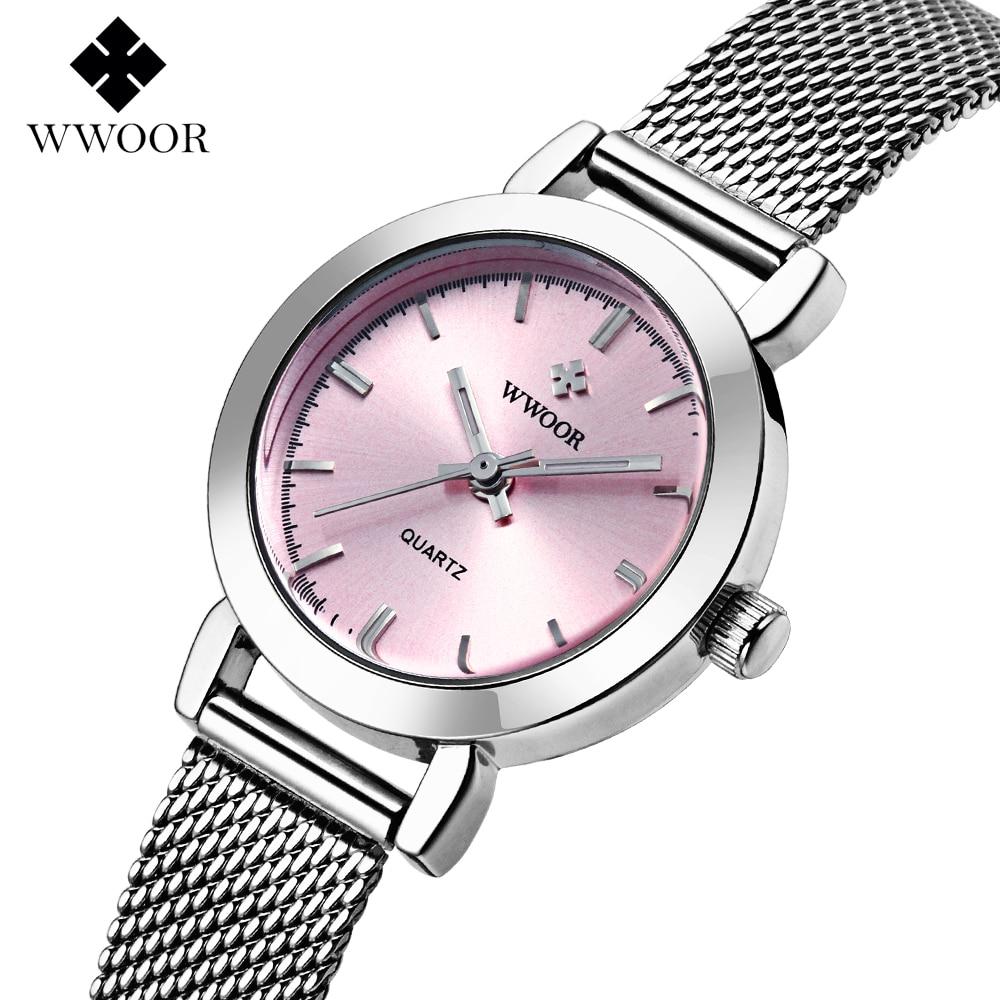 Wwoor Повседневное часы Для женщин Часы Мода часы кварцевые часы женские Элитная одежда наручные часы Relogio Montre Reloj Mujer