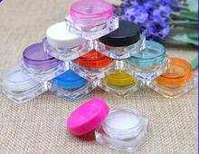 1000pcs Clear Outdoor Travel Portable Round Empty Plastic Cosmetic Container 5g Small Packing Cream Jars Pot Loose Powder Case 10ml empty loose powder jars with mirror powder puff black diy make up powder compact cosmetic packing container free shipping