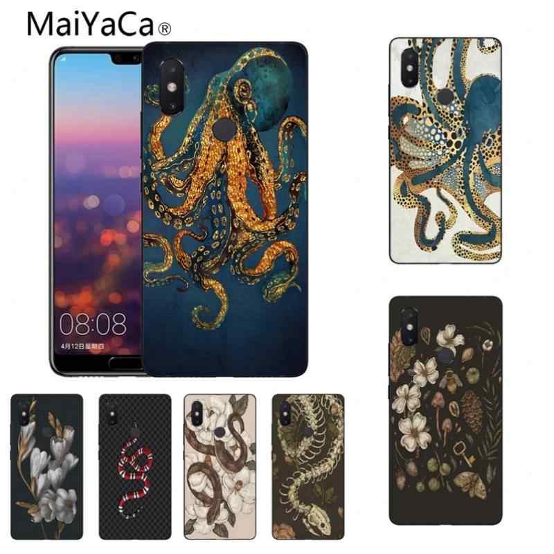 MaiYaCa תמנון נחש פרח ייחודי עיצוב מקרה טלפון באיכות גבוהה עבור mi אדום mi Note4/5 mi 6 6 בתוספת 6X טלפון סלולרי מקרה