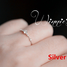 77ed92f5db04 Nueva moda de las mujeres anillo de dedo joyería de oro Rosa plata oro  Color de diamantes de imitación de cristal anillos de 4 5.
