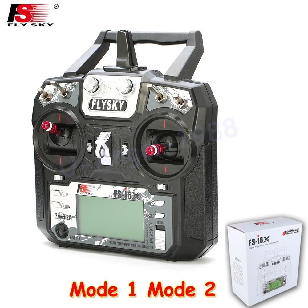 1pcs Original Flysky FS-i6X 2.4GHz 10CH AFHDS 2A RC Transmitter With X6B i-BUS Receiver For Rc Airplane Mode 1 Mode 2 цена