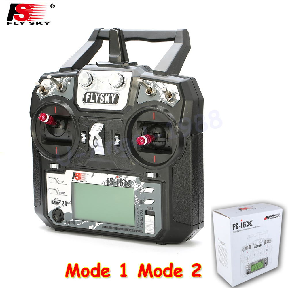 Original Flysky FS-i6X 2.4GHz 10CH AFHDS 2A RC Transmitter With X6B i-BUS Receiver For Rc Airplane Mode 1 Mode 2 flysky fs i6x 10ch 2 4ghz afhds 2a rc transmitter with fs ia6b fs ia10b fs x6b fs a8s receiver for rc airplanes mode 2 f20424 6