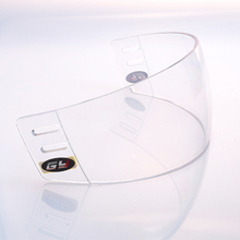 economical clear ice hockey visor outside anti-scratch and inside anti-fog face shield senior size