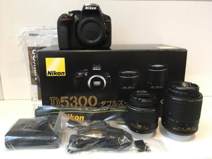 "Nikon D5300 DSLR Camera -24.2MP -1080P Video -3.2"" Vari-Angle LCD -WiFi & AF-P 18-55mm & AF-S 55-200mm VR Lens"