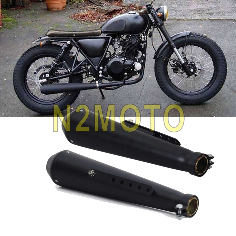 2X Motorcycle 18 Exhaust Muffler Pipe 1 5 8 1 1 2 1 7 16 for