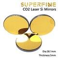 Высокая отражательная способность Si лазерный зеркальный диаметр 38,1 мм толщина 5 мм для CO1 лазерный гравировальный станок для резки