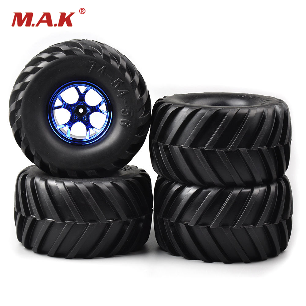 4 PCS/Set Rubber rubber wheels for toys Tires Wheel Rims 3003B For HSP Racing 1:10 RC Bigfoot Car 12mm Hex