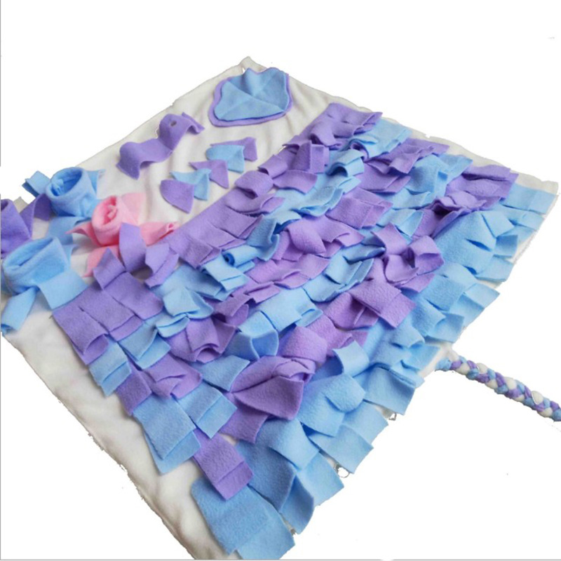 Home & Garden Pet Sniffing Mat Pad Dog Cat Find Food Interactive Dog Toys Relieve Stress Puzzle Training Blanket Sniffing Mat Cat Accessories
