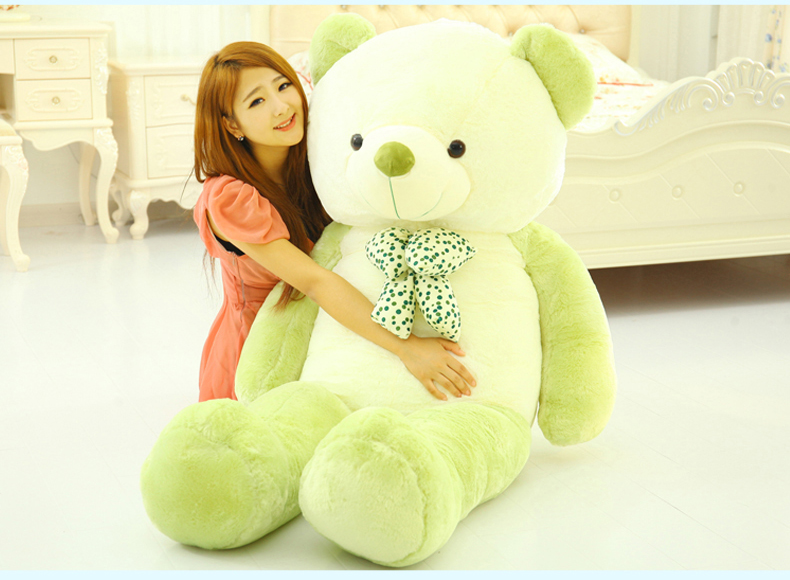 huge white& green teddy bear plush toy hug bear doll hugging pillow,Valentine's Day,Xmas gift about 160cm 0002 lovely panda in pink dress big 90cm plush toy panda doll soft throw pillow proposal birthday gift x030