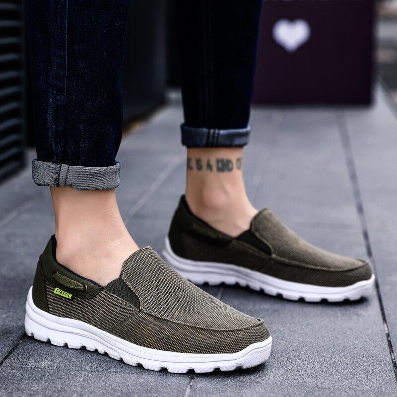 2019 Homens Das Sapatas de Lona Dos Homens Sapatos Casuais Calçados Masculinos Respirável Primavera Outono homens calçado zapatillas hombre Plus Size 47 48