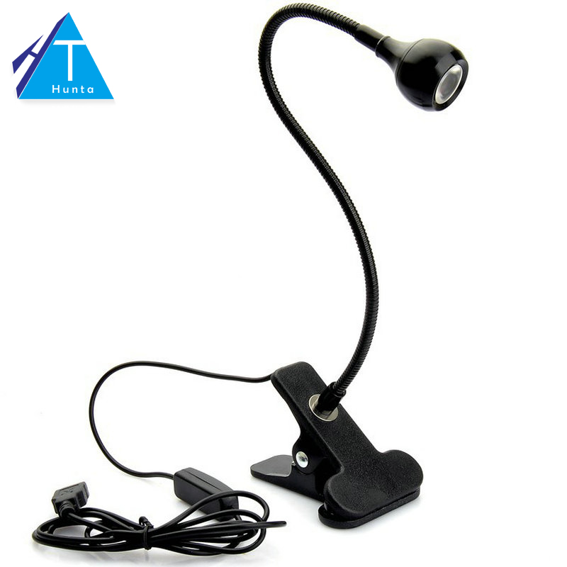 LED Desk Lamp with Clip 1W Flexible LED Reading Lamp USB Power Supply LED Reading Book L ...