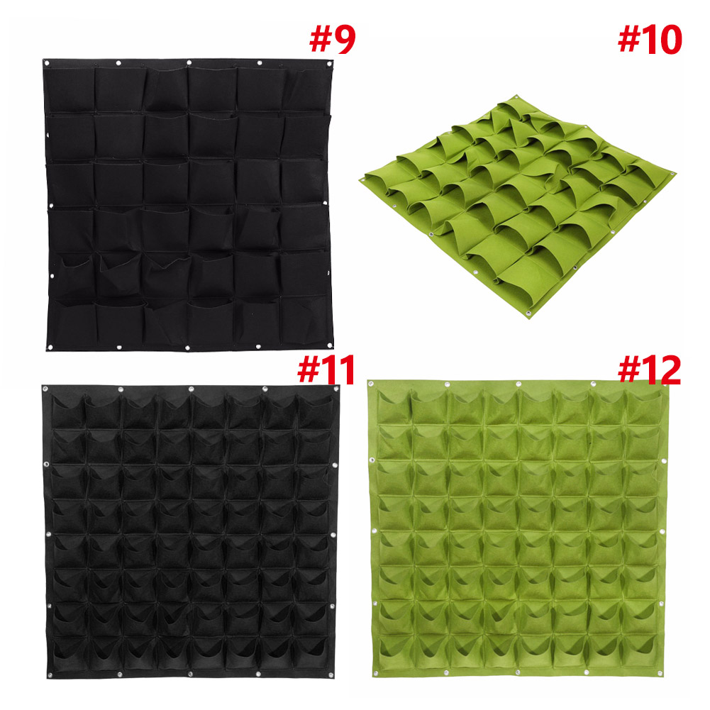 Image 4 - 4/18/36 Pockets Hanging Garden Planting Bags Greening Wall Flower Seedling Wall Vertical Garden Seedling Plant Tool-in Grow Bags from Home & Garden