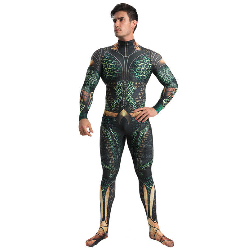 New Arrival Aquaman Cosplay Costume For Men Superhero Cosplay For Adult