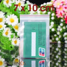 7x10cm Ziplock Plastic Bags Jewelry Small Bag Candy Food Packaging Zip Lock Clear Compressed  Dustproof Reclosable