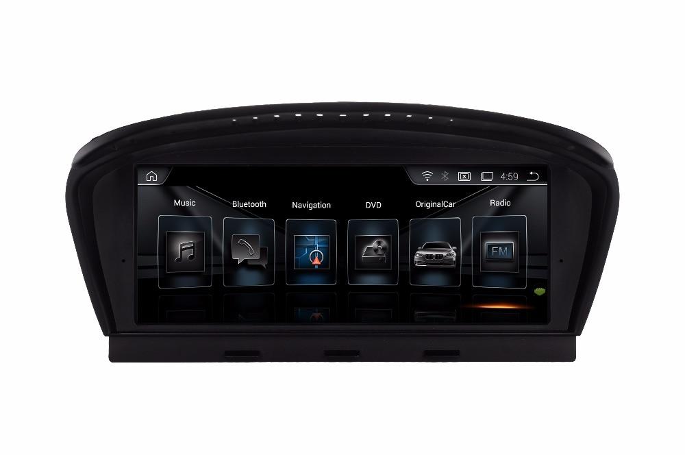 ID6 nouveau style Quad Core Android 4.4 voiture DVD pour BMW série 3 E90 2009-2012 avec GPS Navi Audio Radio iDrive volant carte