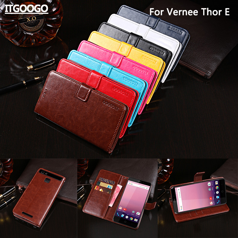 Vernee Thor E Case Cover Luxury Leather Flip Case For Vernee Thor E Protective Phone Case Back Cover Wallet Case