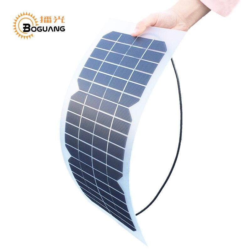 Boguang 18 V 10 watt solarzelle kit Transparent semi-flexible Monokristalline solarmodul DIY modul außen stecker DC 12 v ladegerät