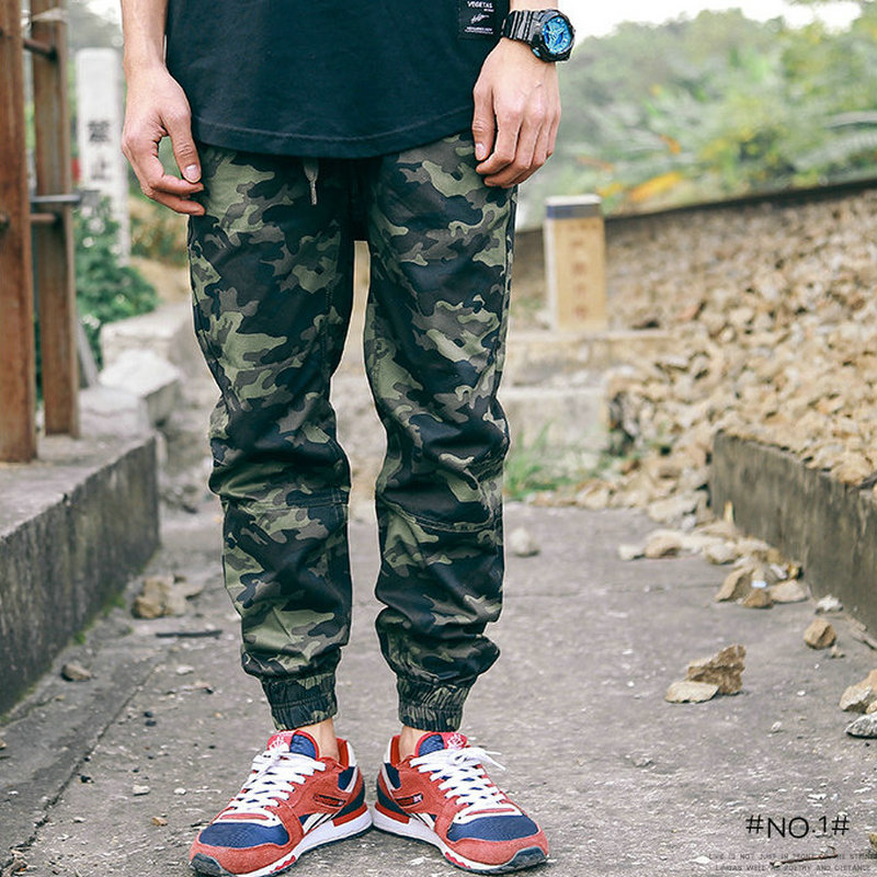 Harem Pants Cargo Trousers Loose Camouflage Causal Autumn Men
