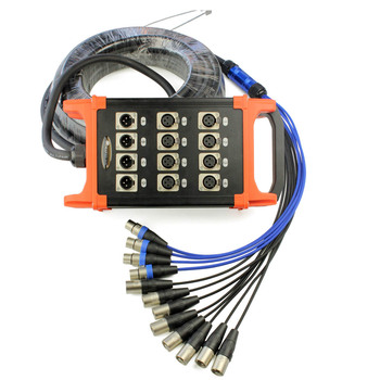 High quality KL Snake cable 100Ft (30 meter) -15 meters -50 meters 12 Channel XLR 8 Sends 4 Retur Stage Snake