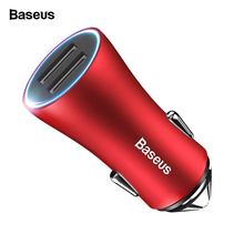 Baseus LED USB Car Charger For iPhone Samsung s10 Xiaomi mi 9 Fast Charging Adap