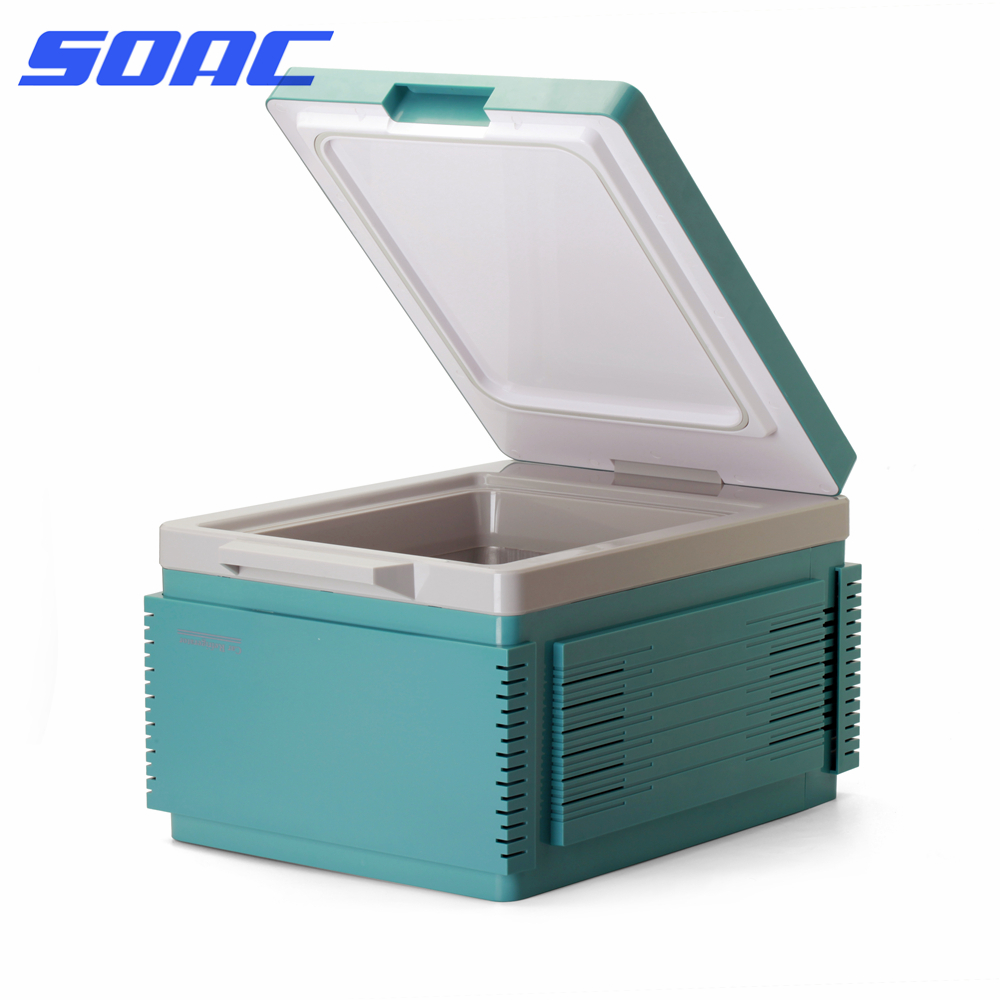 Small Portable Fridge Us 143 Car Cooler 12l Auto Refrigerator 12v Small Portable Mini Fridge Heating And Cooling Double Use Travel Fridge Fr 122cp In Refrigerators From