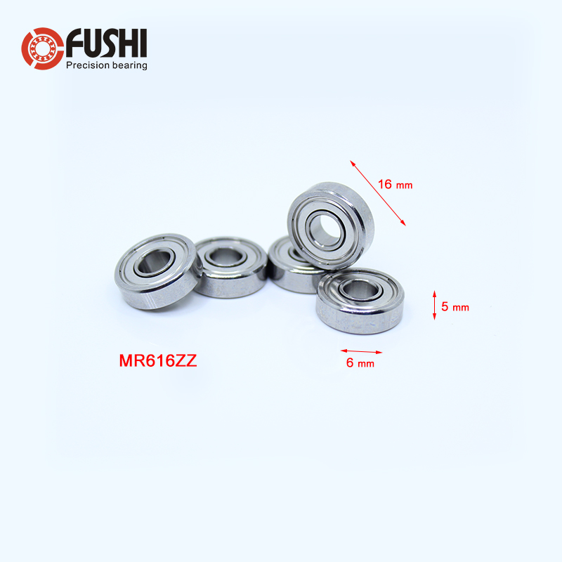 Mr616zz Ball Bearing 6*16*5 Mm 5pcs Abec-3 Non Standard B6-63z R-1660hh Deep Groove Bearings Mr616 Z B6-63 Power Transmission Bearings