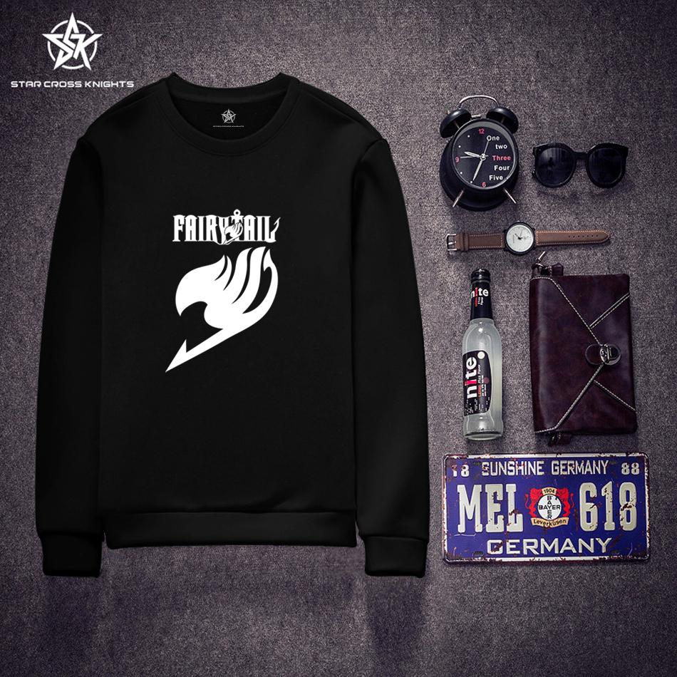 Fashion Brand Men Clothing Fairy Tail Black White Men Hoodies Anime Japanse Harajuku Style Man Boy Sweatshirts Casual Sportswear