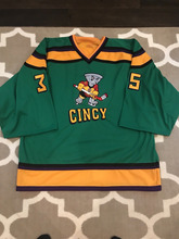 Vintage Goalie Cut Mighty Ducks Cincinnati Cyclones 35 Hockey Jersey  Embroidery Stitched Customize any number and name Jerseys 4f1dd82e7