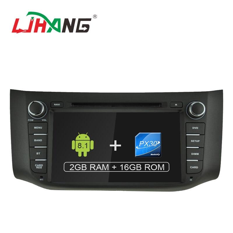 LJHANG 1 DIN Android 8.1 Car DVD player GPS navigation for Nissan Sylphy Sentra 2012 2016 Pulsar NB17 Tiida C13R multimedia WIFI